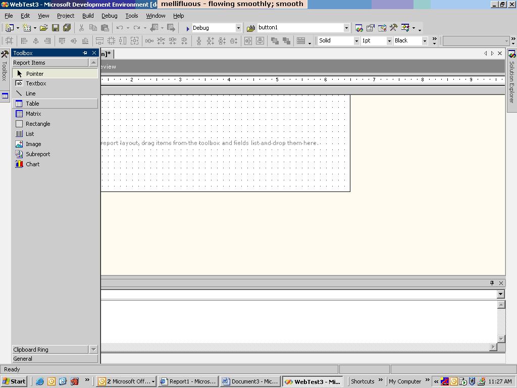 默认情况下,表将创建3 columnsnbsp;头,细节和页脚行.